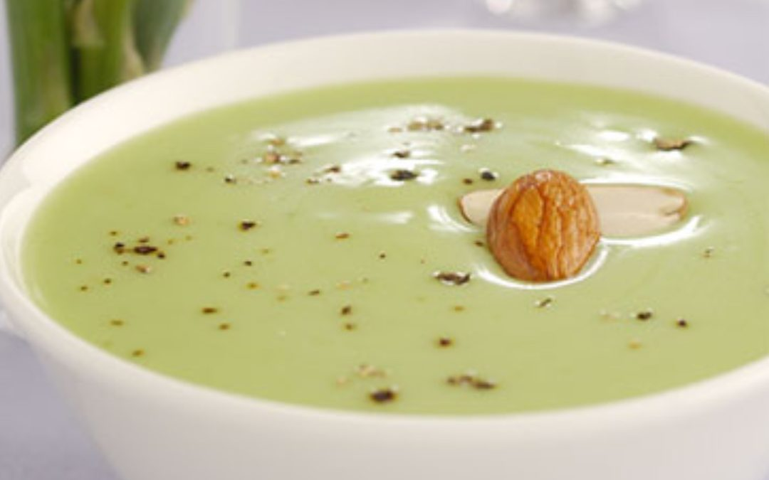Chilled Asparagus and Almond Soup